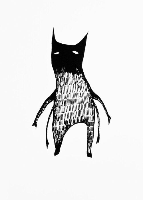 Demon Silkscreen Print